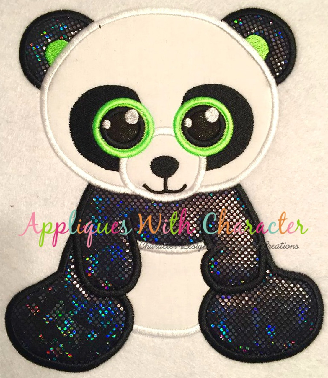 7ad0116edc9 Beanie Boo Panda Applique Design by Appliques With Character