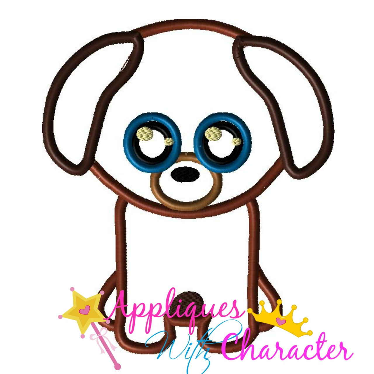 aebe73f3040 Beanie Boo Dog Applique Design by Appliques With Character