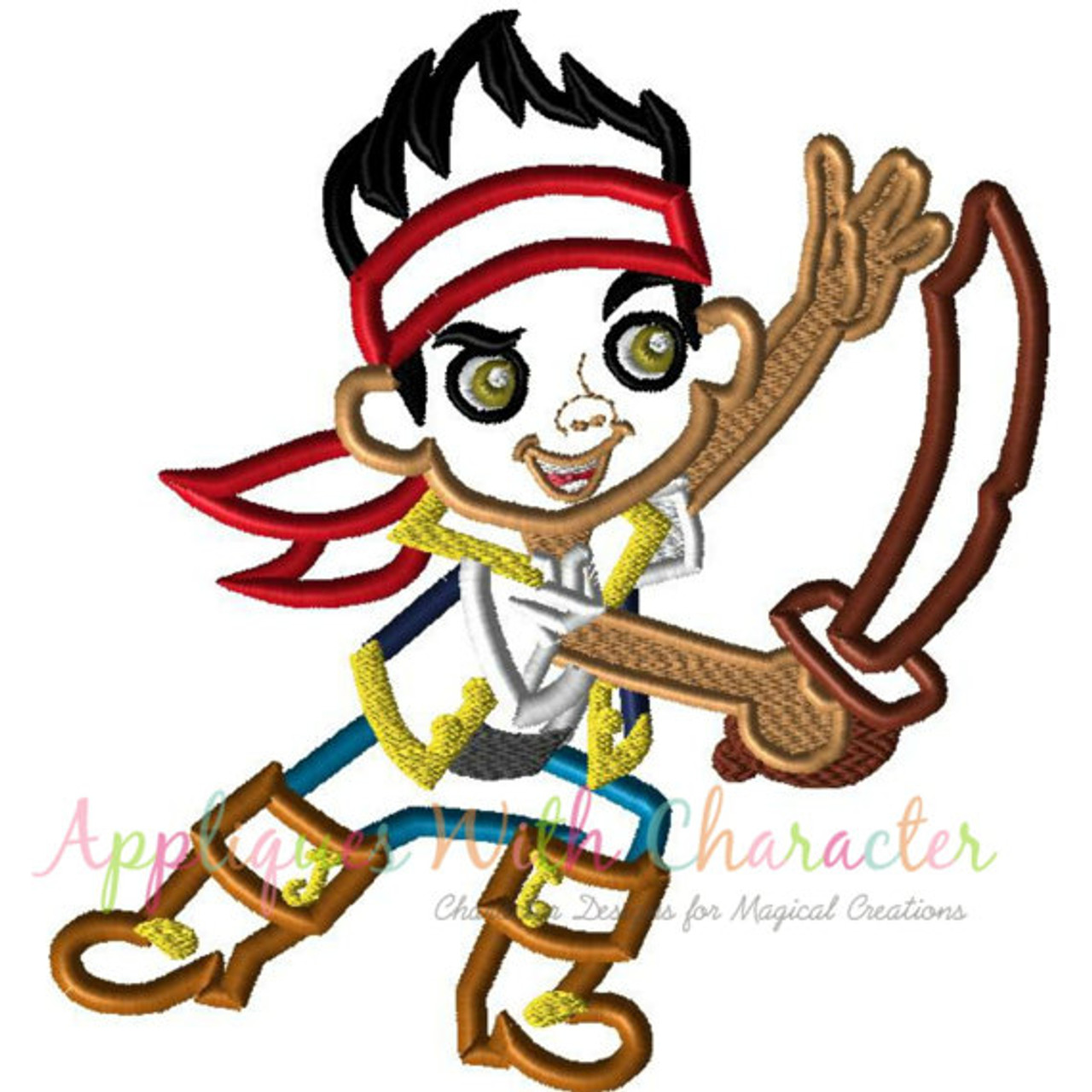 Jake and The Neverland Pirates 2 Embroidery Designs