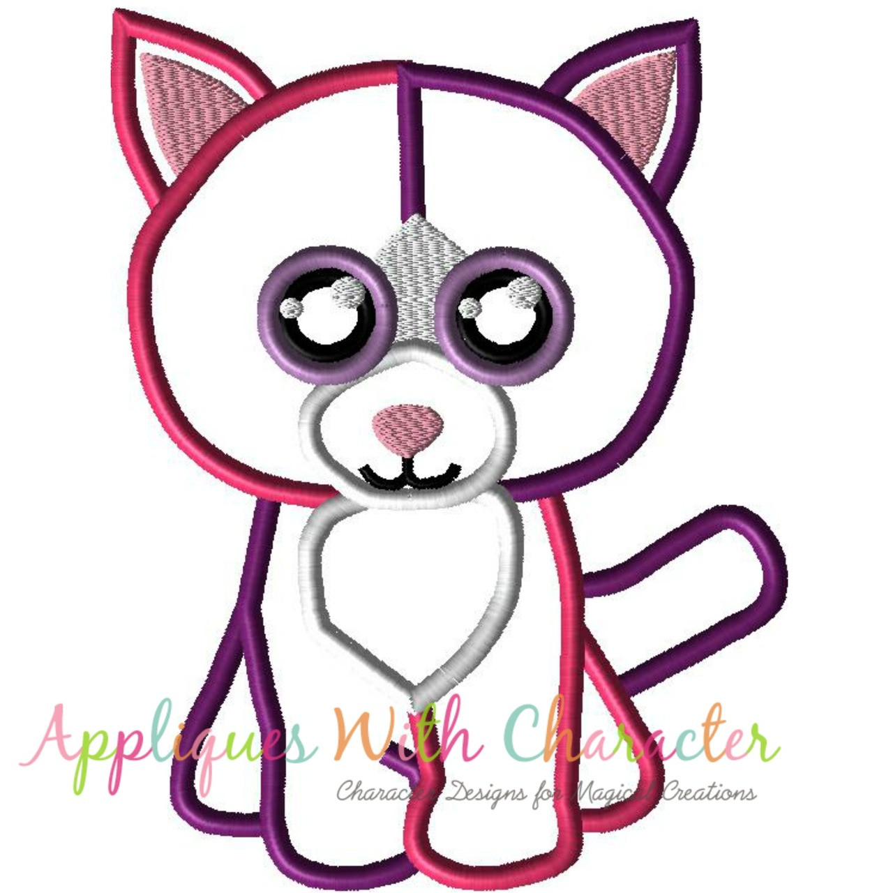 9c1e406083c Beanie Boo Pellie Cat Applique Design by Appliques With Character