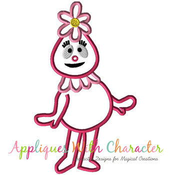 Foofie Pink Applique Design