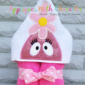 Foofie Pink Peeker Applique Design