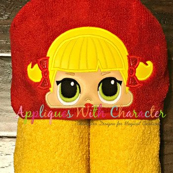Cheer Doll Peeker Applique Design