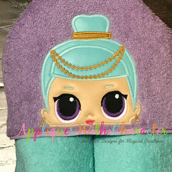 Genie Doll Peeker Applique Design