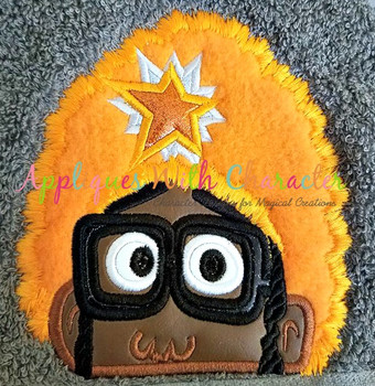 Orange Gabby Peeker Applique Design