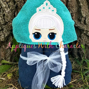 Elsa Doll Peeker Applique Design