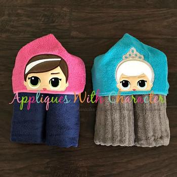 Elsa & Anna Doll Peeker Applique Design Bundle