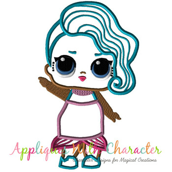 Splash Doll Applique Design