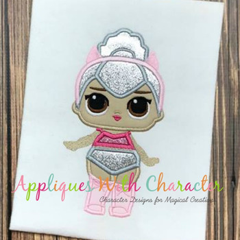 Kitty Doll Applique Design