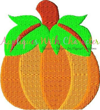 Pumpkin Filled Stitch Embroidery Design