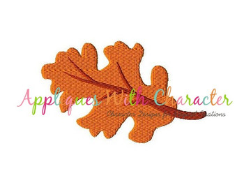 Fall Leaf Filled Stitch Embroidery Design