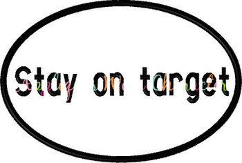 Star Battle Stay on Target Applique Embroidery Design