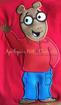Art Aardvark Applique Embroidery Design