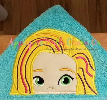 Sun Girl Peeker Applique Design - Sunny Day Girls