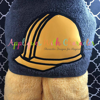 Construction Hat Peeker Applique Design