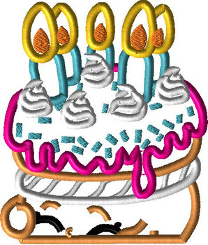 Shopikins Birthday Cake Peeker Applique Design