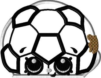 Shopikins Soccer Ball Peeker Applique Design