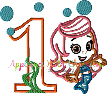 Bubble Girl ONE Applique Design