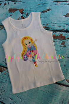 Sun Girl Applique Design