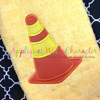 Construction Cone Applique Peeker Design