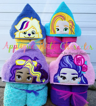 Sun Girls Applique Set