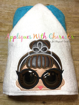 IT Baby Audrey Hepburn Doll Peeker Applique Design