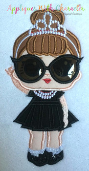 IT Baby Audrey Hepburn Applique Design