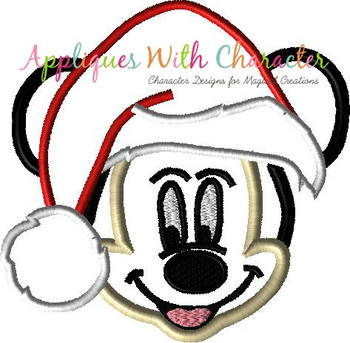 Mr Mouse Santa Applique Design