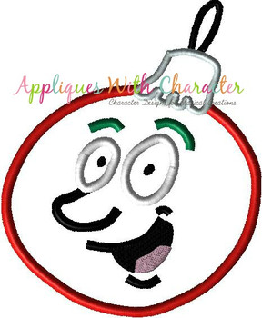 Silly Face Christmas Applique Ornament