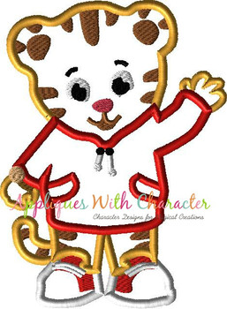 Danny Tiger Applique Design