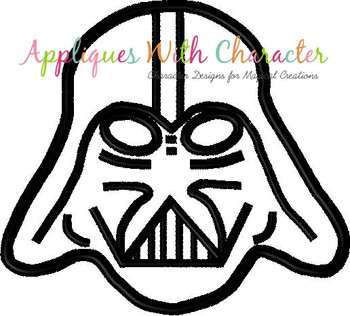 Darth Star Battles Applique Design