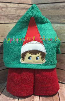 Elf Sitting on the Shelf Boy Peeker Applique Design