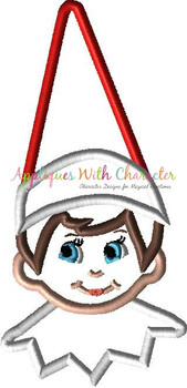 Boy Elf Sitting on the Shelf Applique Design