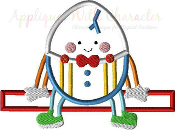 Humpty Dumpty Nursery Rhyme Applique Design