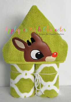 Rudy Reindeer Peeker Applique Design