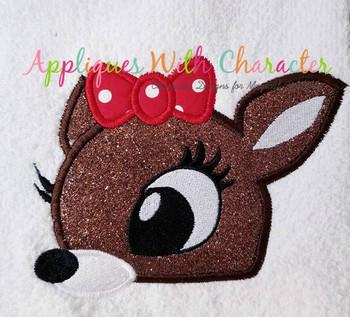 Rudy Clary Reindeer Peeker Applique Design