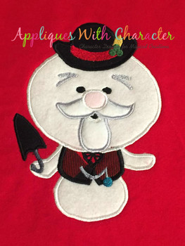 Rudy Sam the Snowman Applique Design