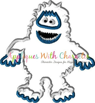 Rudy Abominable Snowman Applique Design