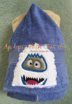 Rudy Abominable Snowman Peeker Applique Design