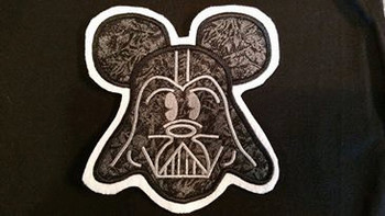 Mr Mouse Darth Vader Applique Design