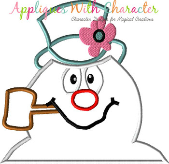 Frostee Snowman Bust Applique Design