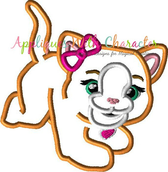 Furry Kitty Applique Design