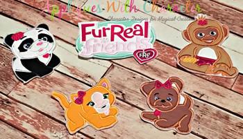 Furry Kitty Applique Design
