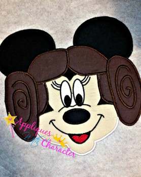 Miss Mouse Leia Star Fight Applique Design