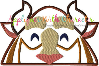 Beauty Beast Peeker Applique Design