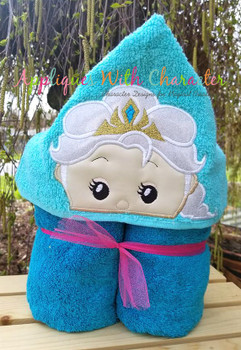 Frozen Elsa Tsum Peeker Applique Design