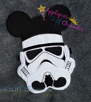 Mr Mouse Storm Trooper Star Fight Applique Design
