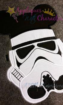 Mr Mouse Storm Trooper Star Fight Applique Design