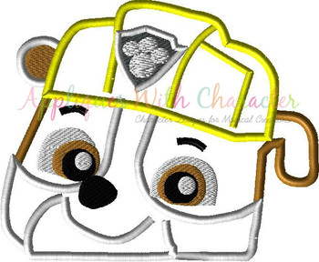 Pup Patrol Rubble Pup Peeker Applique Design