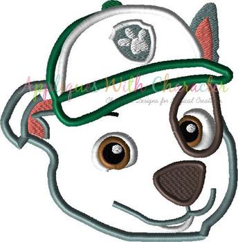 Pup Patrol Rockie Peeker Applique Design